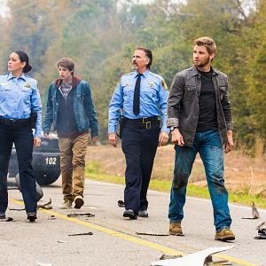 Still of Jeff Fahey, Mike Vogel, Colin Ford and Natalie Martinez in Under the Dome (2013)