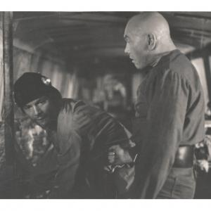 Mel Novak with Yul Brynner Scene from THE ULTIMATE WARRIOR