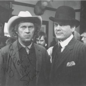 Mel Novak with Steve McQueen on the set of Tom Horn (1980)