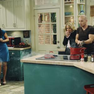 Still of Melissa Joan Hart, Joey Lawrence and Valery M. Ortiz in Melissa & Joey (2010)