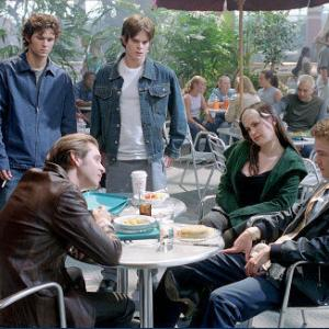 Seated - Aaron Stanford, Anna Paquin, Shawn Ashmore; Standing - Glen Curtis, Greg Rikaart