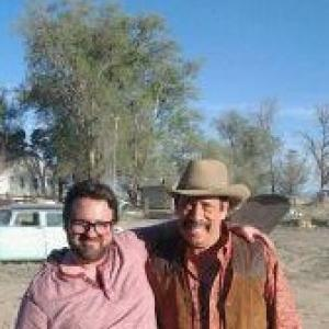 Christopher Robin Miller and Danny Trejo on the set of 3 DAYS IN VEGAS 2012