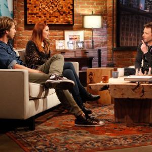 Still of Chris Hardwick Felicia Day and Jon Heder in Talking Dead 2011