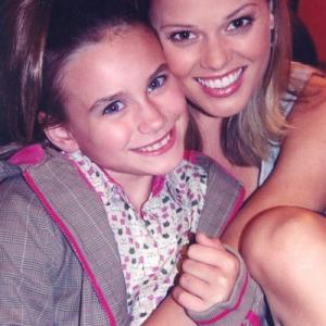 Alix Kermes and Kate Levering on set of Kevin Hill