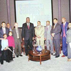 Kweku Abdullah, Jesse Jackson, John Thompson, Eddie George, Bobby Mitchell, Richard Lapchick, John Saunders, Joe C. Farr III, Fred Brown, Howard White