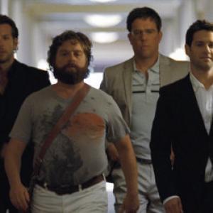 Still of Justin Bartha Bradley Cooper Zach Galifianakis and Ed Helms in Pagirios Las Vegase 2009