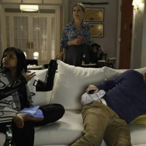Still of Beth Grant, Adam Pally and Mindy Kaling in The Mindy Project (2012)
