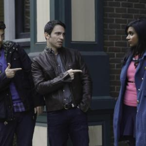 Still of Chris Messina, Adam Pally and Mindy Kaling in The Mindy Project (2012)