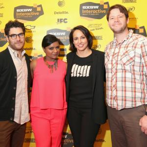 Ike Barinholtz, Adam Pally, Mindy Kaling and Anne Fulenwider at event of The Mindy Project (2012)