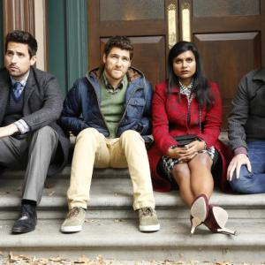 Still of Chris Messina, Adam Pally, Mindy Kaling and Ed Weeks in The Mindy Project (2012)