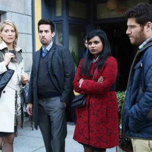 Still of Jenna Elfman, Adam Pally, Mindy Kaling and Ed Weeks in The Mindy Project (2012)