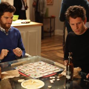 Still of Glenn Howerton and Adam Pally in The Mindy Project (2012)