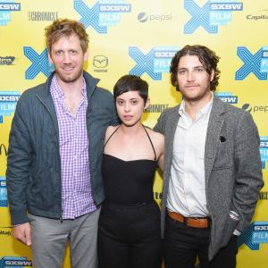 Adam Pally, Charles Hood and Rosa Salazar at event of Night Owls (2015)