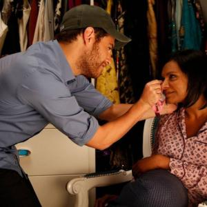 Still of Adam Pally and Mindy Kaling in The Mindy Project (2012)
