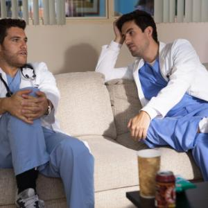 Still of Adam Pally and Ed Weeks in The Mindy Project (2012)