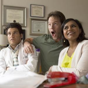 Still of Ike Barinholtz, Adam Pally and Mindy Kaling in The Mindy Project (2012)