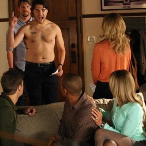 Elisha Cuthbert, Zachary Knighton, Damon Wayans Jr., Nick Zano, Adam Pally and Eliza Coupe in Happy Endings (2011)