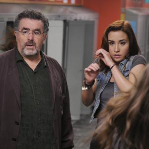 Still of Saul Rubinek and Allison Scagliotti in Warehouse 13 2009