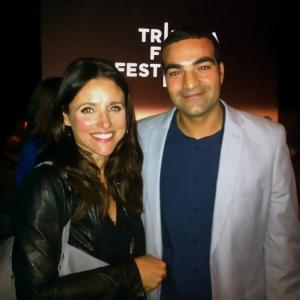 Julia LouisDreyfus and Martn Rosete at 2012 Tribeca Film Festival