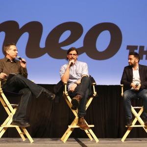 Josh Hartnett, J.A. Bayona and David Nevins at event of Penny Dreadful (2014)