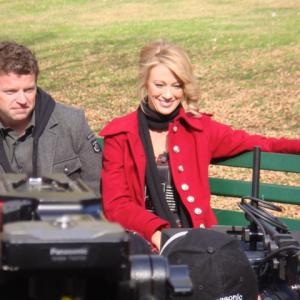 Jennifer Lothrop and Dave Holmes Filming in Boston  The Departed DVD on TV