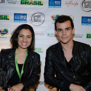 Al Danuzio and Debora Rodrigues at the Brazilian Film Festival of New York 2013.