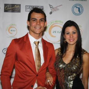 Red Carpet of the Miami Life Awards 2012. Nominated to Best Monologue and Best Theater Actor of 2012