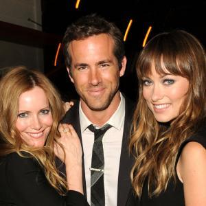 Leslie Mann Ryan Reynolds and Olivia Wilde