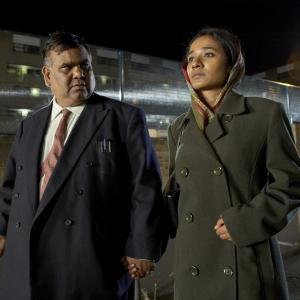 Still of Satish Kaushik and Tannishtha Chatterjee in Brick Lane (2007)