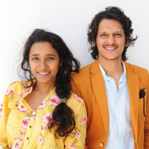 Tannishtha Chatterjee and Vijay Varma at event of Monsoon Shootout (2013)