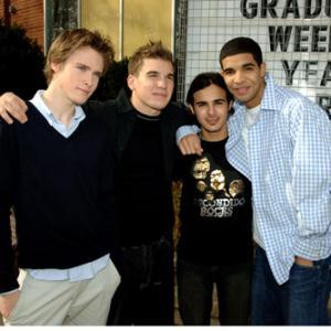 Shane Kippel, Aubrey Graham, Adamo Ruggiero and Jamie Johnston at event of Degrassi: The Next Generation (2001)