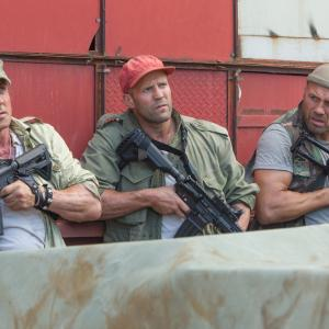 Sylvester Stallone, Jason Statham, Randy Couture