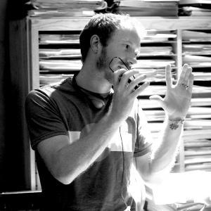 Andrew Hyatt on the set of The Last Light