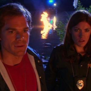 Still of Michael C. Hall and Jennifer Carpenter in Deksteris (2006)