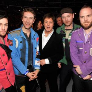 Paul McCartney, Chris Martin, Guy Berryman, Jon Buckland, Will Champion