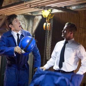 Still of Casey Affleck and Scott Caan in Ocean's Thirteen (2007)
