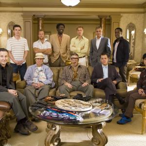 Still of Brad Pitt, George Clooney, Don Cheadle, Matt Damon, Casey Affleck, Elliott Gould, Scott Caan, Bernie Mac, Carl Reiner, Eddie Jemison and Shaobo Qin in Ocean's Thirteen (2007)