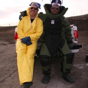 Still of Adam Savage and Jamie Hyneman in MythBusters (2003)