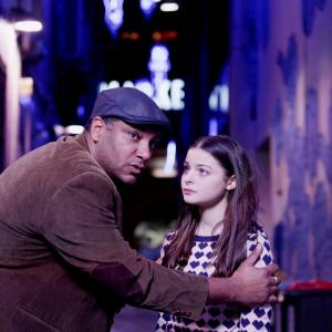 Production still Michael Budd and Tiarnie Coupland as Tyrone and Sally