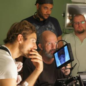 Directing Love of my Life with Writer Liam Barrett far right and DOP Steve Arnold ACS Centre
