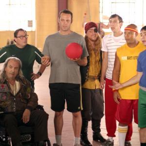 Still of Vince Vaughn, Rip Torn, Justin Long, Joel David Moore, Stephen Root, Alan Tudyk and Chris Williams in Dodgeball: A True Underdog Story (2004)