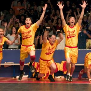 Still of Justin Long, Joel David Moore, Stephen Root, Christine Taylor and Chris Williams in Dodgeball: A True Underdog Story (2004)
