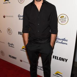Actor Beejan Land attends Australians in Film present the Premiere Of 'Felony' at Harmony Gold Theatre Los Angeles, California.