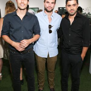 Peter Dundas, Alex Russell and Beejan Land attend MUSE exhibition Opening at De Re Gallery, Los Angeles.