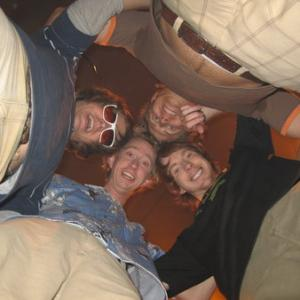 Oren Skoog Jeremy Howard Chris Owen and Travis Van Winkle on the set of Dorm Daze 2