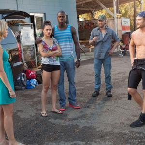 Still of Joshua Leonard Sara Paxton Chris Carmack Alyssa Diaz and Sinqua Walls in Shark Night 3D 2011