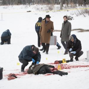 Still of Laurence Fishburne, Jack Crawford, Hugh Dancy, Brooke Palmer and Aaron Abrams in Hanibalas (2013)