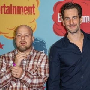 AN DIEGO, CA - JULY 20: (L-R) Director David Slade and actor Aaron Abrams arrive at Entertainment Weekly's annual Comic-Con celebration at Float at Hard Rock Hotel San Diego on July 20, 2013 in San Diego, California.