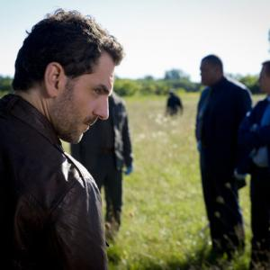 Still of Laurence Fishburne and Aaron Abrams in Hanibalas (2013)
