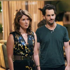 Jewel Staite and Aaron Abrams in The L.A Complex.